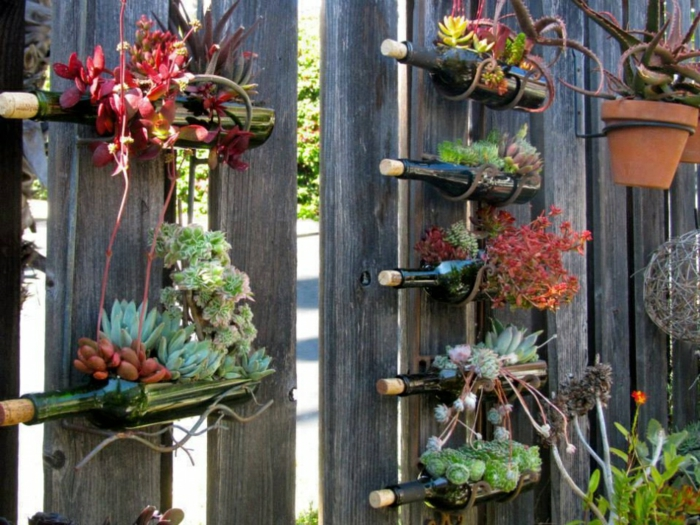 diy ideas bottles deco ideas garden garden fence