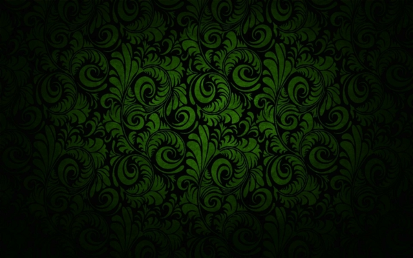wall design wallpaper flower motif green black