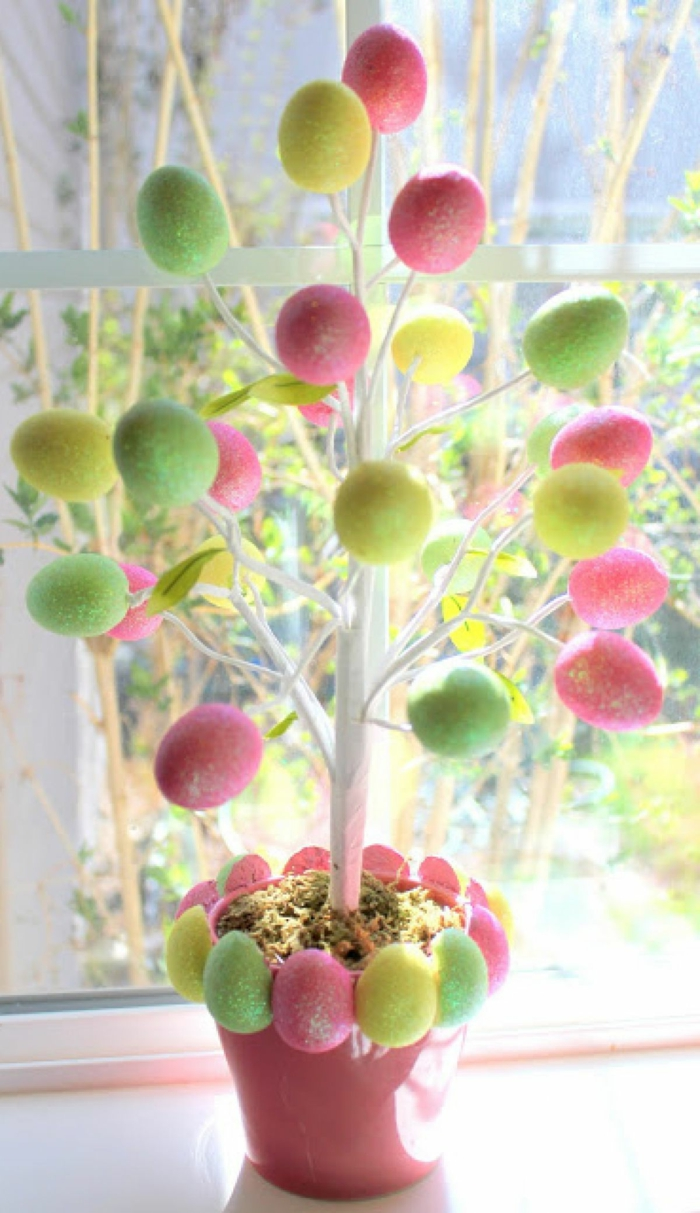 easter decoration easter eggs tree crafting decoration easter