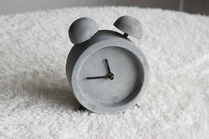 small clock made of concrete