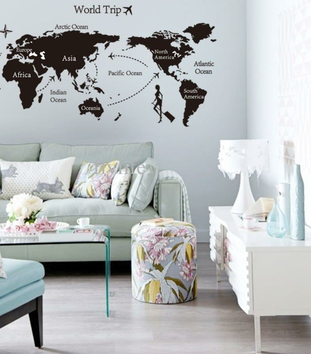 World map neutral colors