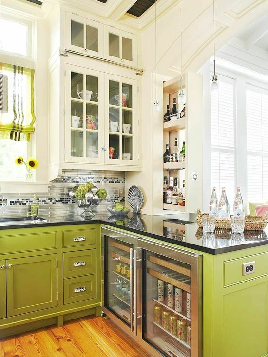 color ideas for kitchen green fresh yellow wood vanity units