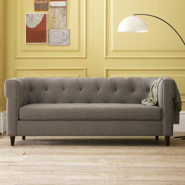cheap sofa in gray