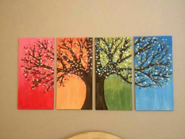 diy modern canvas pictures seasons