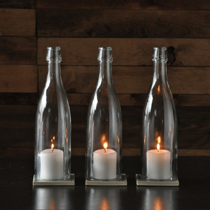diy ideas bottles of deco candles