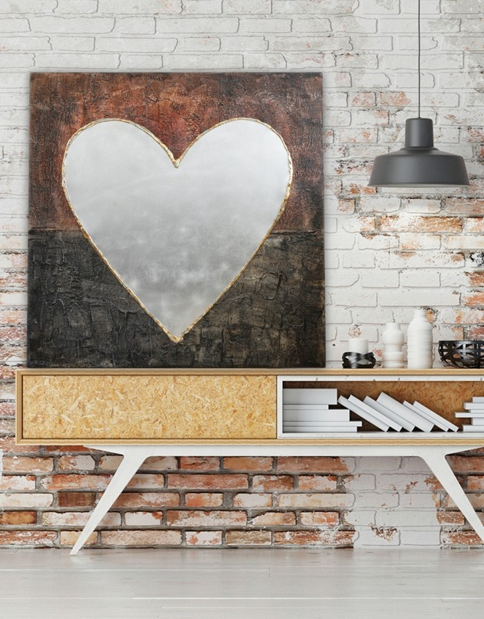 valentines day ideas wall decor heart brick wall