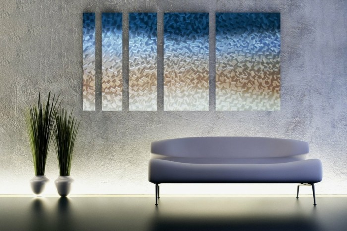 wall decoration ideas with abstract pictures