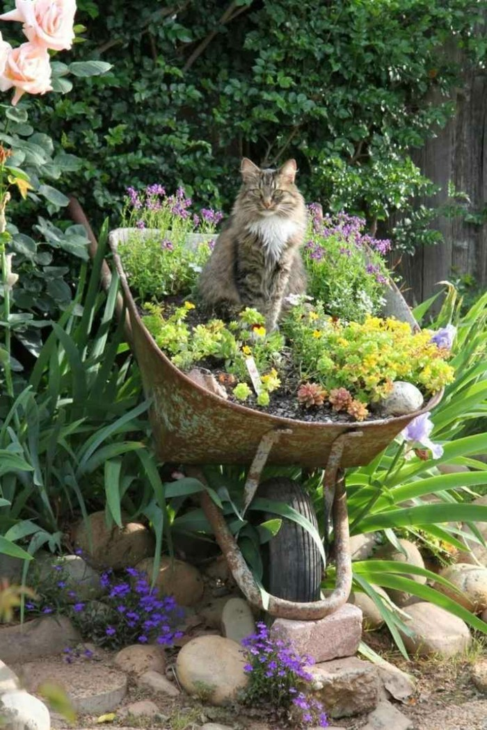 Garden decor itself make fancy plant containers