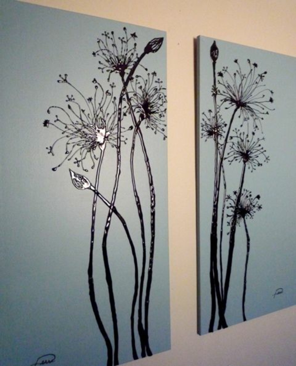 Customize your own canvas diy floral