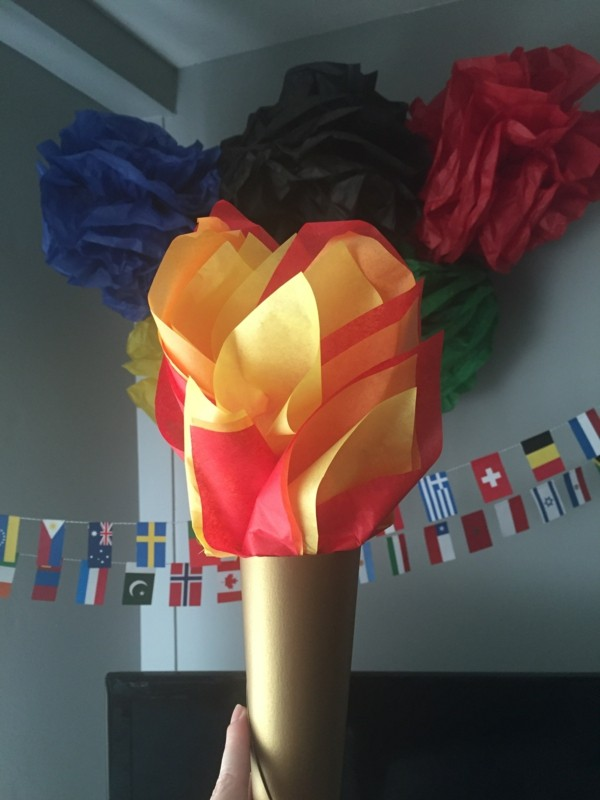 torch and wall design olimpiade