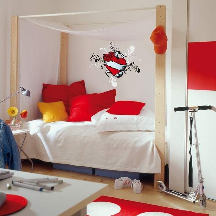 valentines day ideas youth room heart wall decal