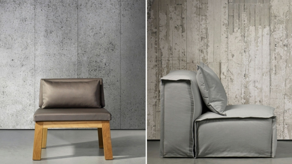 Wall paint armchairs chairs concrete look textures