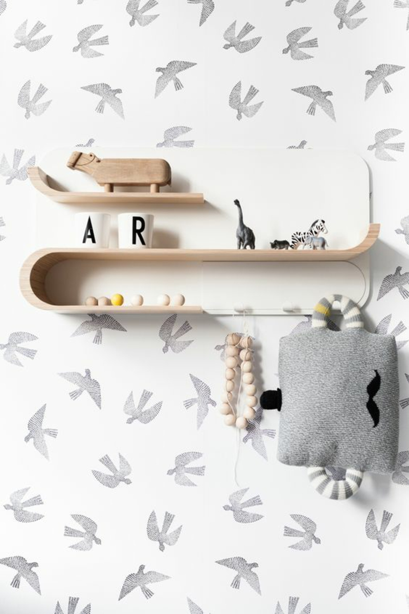 Pattern wallpaper birds wallpaper for nursery frame