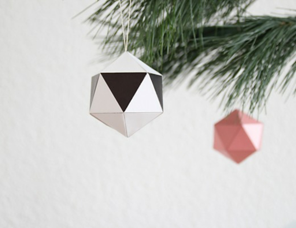 christmas tree ornaments crafting paper folding origami tree ball