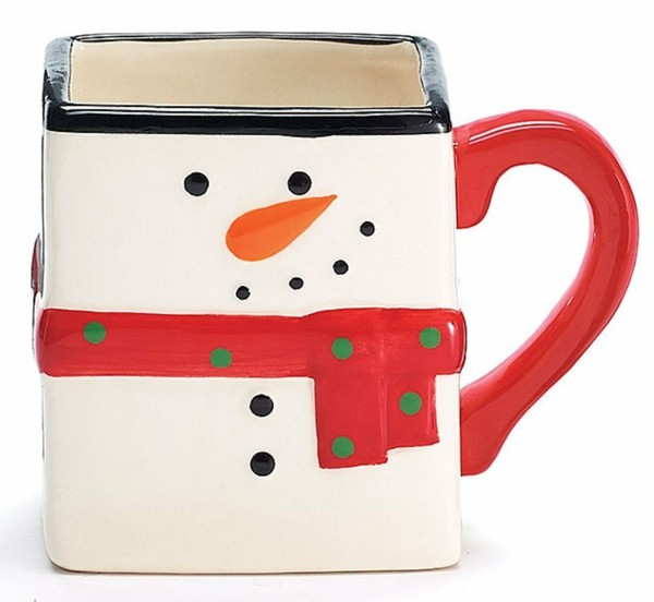snowman pattern mugs painted-resized