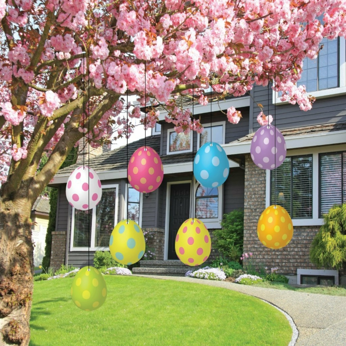 decorating easter garden decorating colored deco ideas