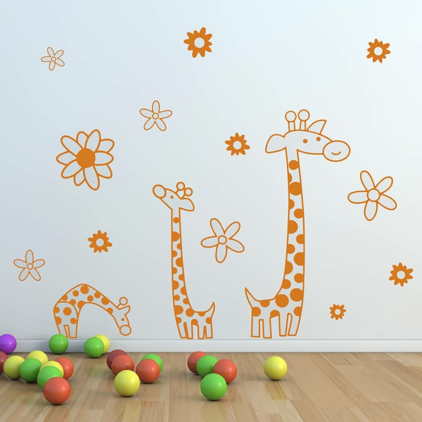 wall stickers nursery giraffes toddlers toys