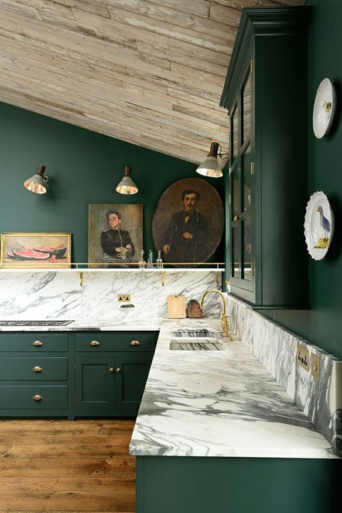 dark green kitchen kitchen trends 2018